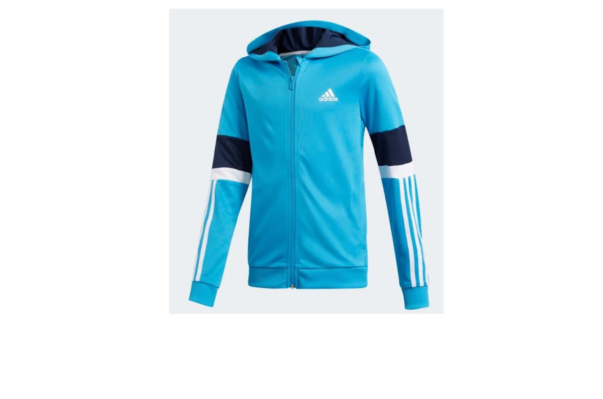 Felpa Adidas Junior Cyan